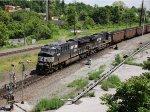 NS 3658 dpu on coal train 776